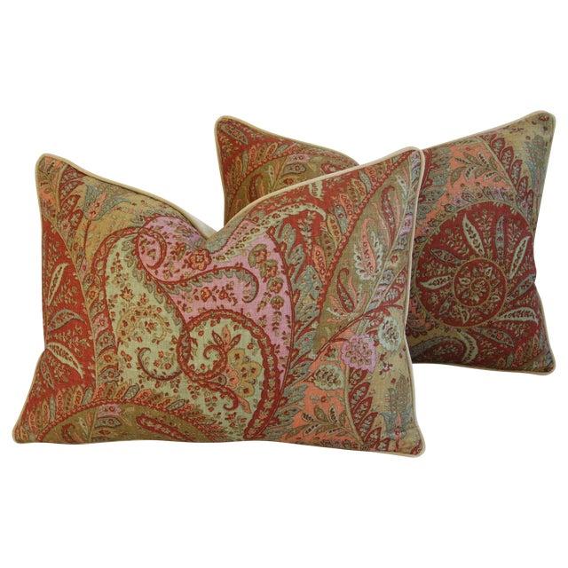 Designer Brunschwig & Fils Paisley Pillows - Pair - Image 1 of 9