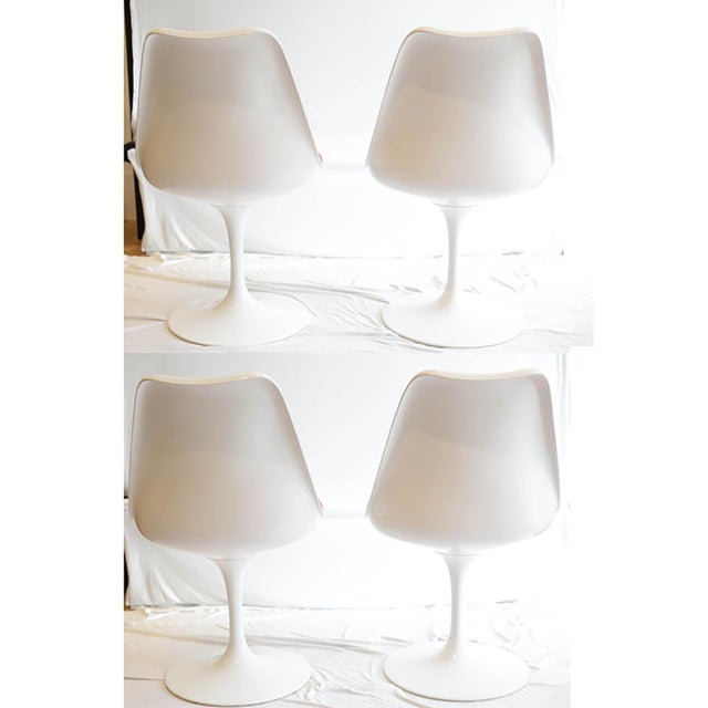 Saarinen Tulip Armless Chair by Knoll - Image 2 of 11