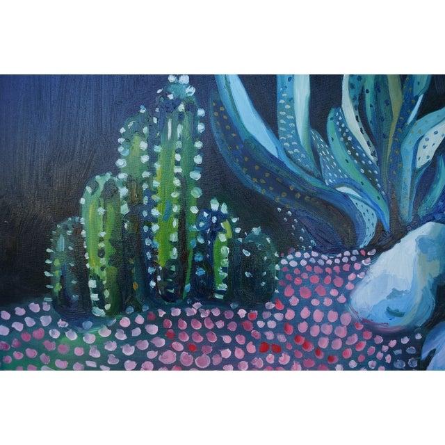 """Night Scene"" Painting by Katherine Dunlap - Image 2 of 2"