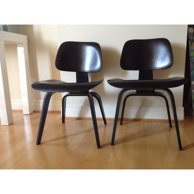 Wood Charles Eames Dcw for Evans Products Co. & Herman Miller - A Pair For Sale - Image 7 of 11