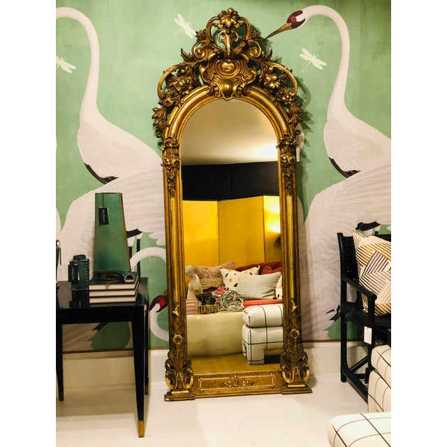 Antique French Gilt Mirror For Sale - Image 10 of 10