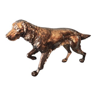 Jennings Brothers Silver Plate Hunting Dog Figurine For Sale