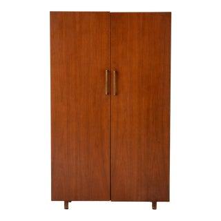 Mid-Century Modern Walnut Cabinet For Sale