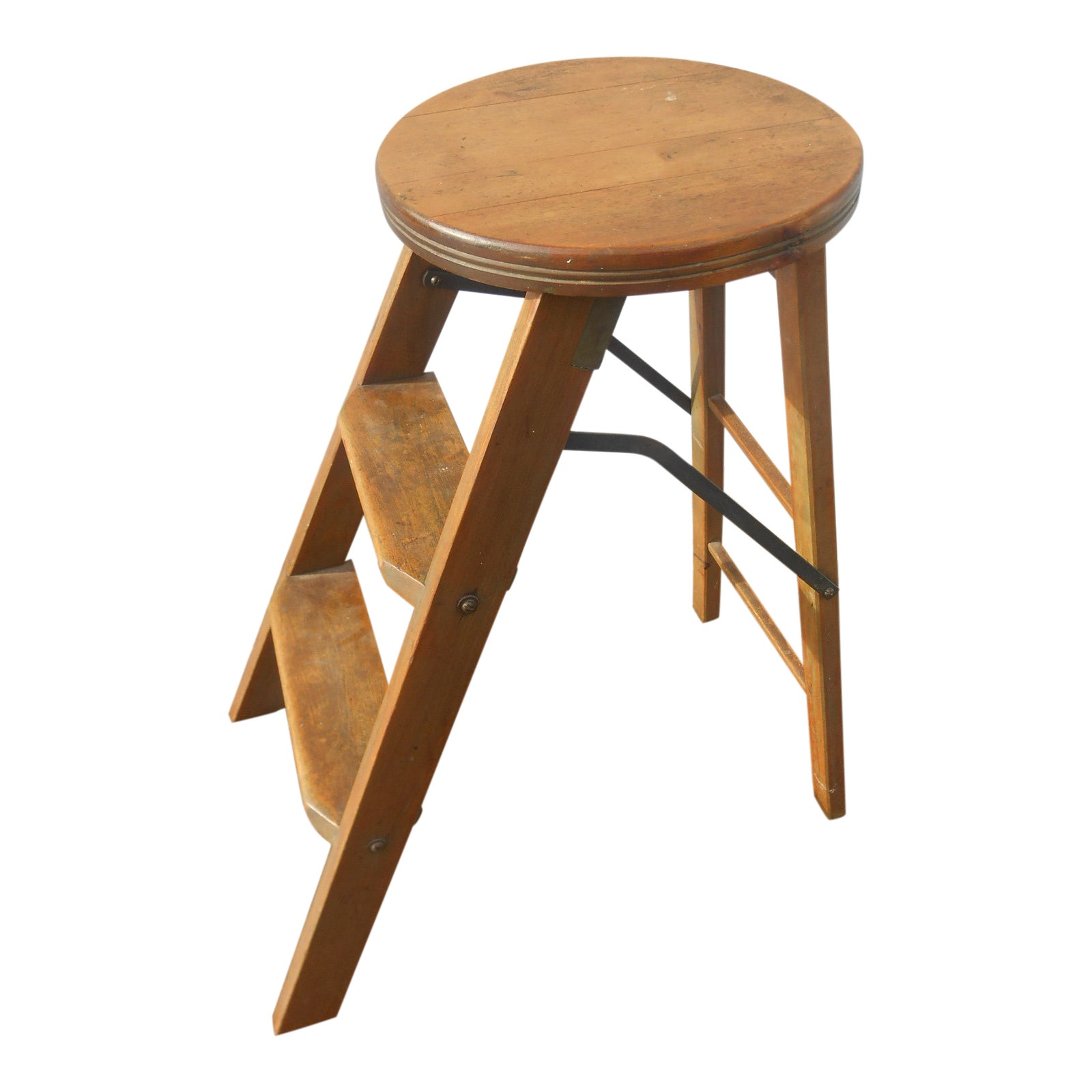 Super 1910S Antique Folding Library Step Stool Gmtry Best Dining Table And Chair Ideas Images Gmtryco
