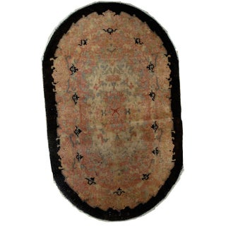 1920s Hand Made Antique Art Deco Chinese Rug - 2′10″ × 4′10″