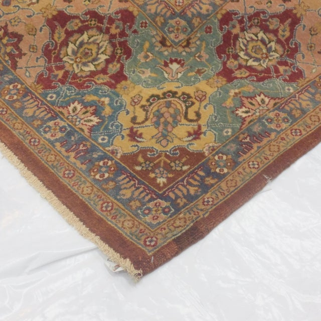 "Brown Agra Carpet - 9'4"" X 12'4"" For Sale - Image 5 of 5"