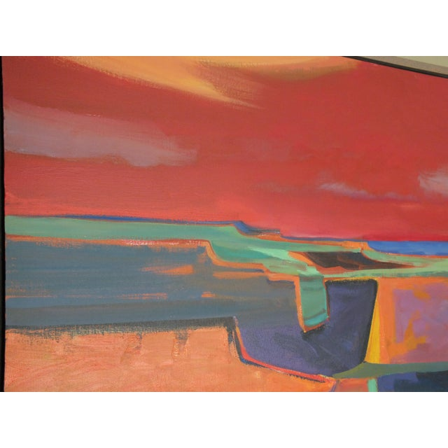 """Abstract Southwestern Landscape """"Twilight"""", Jamie Chase For Sale - Image 5 of 10"""
