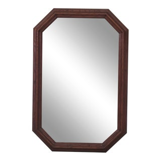 Henredon Octagonal Oak Dresser Wall Mirror For Sale