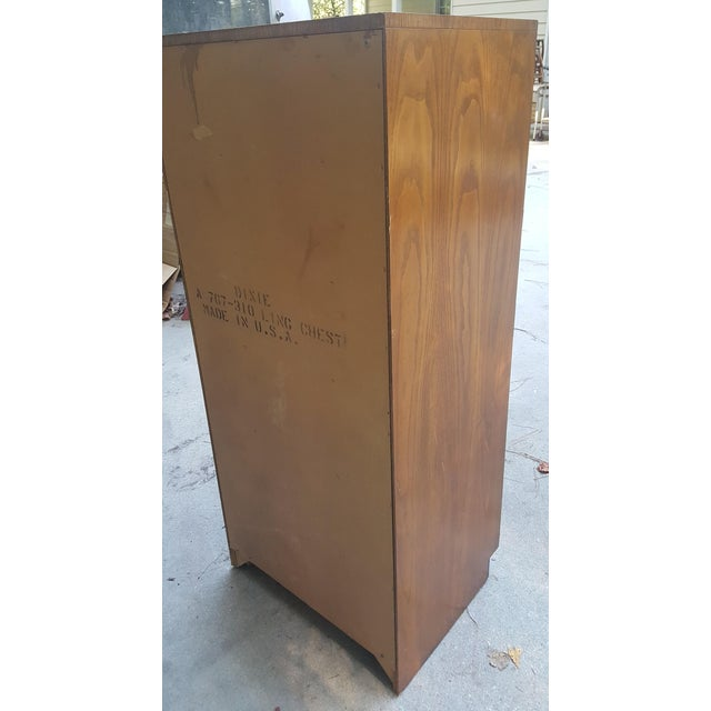 Vintage Dixie Campaign Style Lingerie Chest of Drawers For Sale In Raleigh - Image 6 of 10
