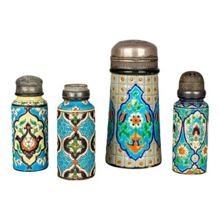 French Longwy Ceramic Shakers - Set of 4 For Sale