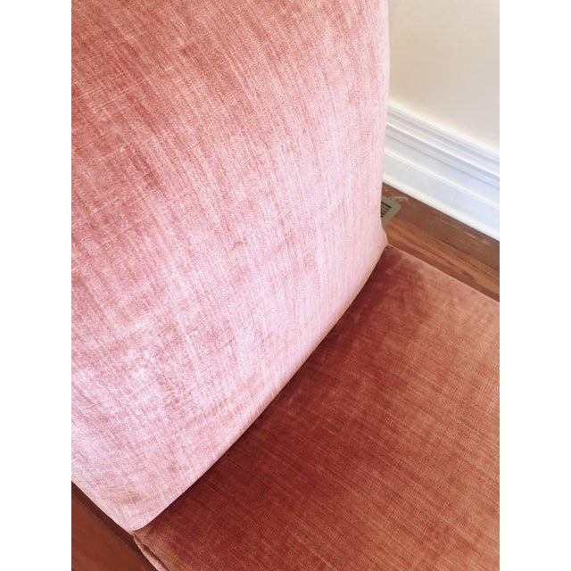 1940s Curvilinear Pink Slipper Chairs- Pair For Sale - Image 5 of 13