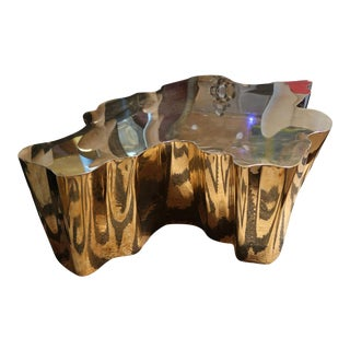 A Gilded Brass Coffee Table, Spain 2015 For Sale