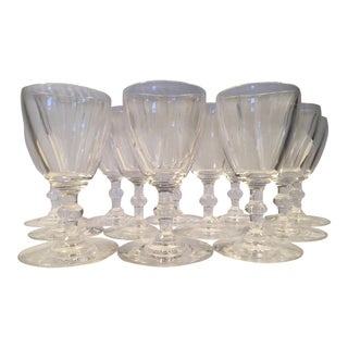 Mid-20th C. Antique Steuben Port Wine Stemware - Set of 12 For Sale