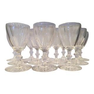 Mid-20th Century Antique Steuben Port Wine Stemware - Set of 12 For Sale