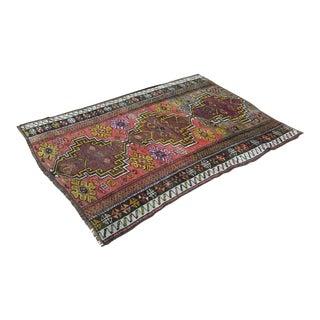 Turkish Anatolian Oushak Wool Rug - 6′3″ × 3′11″ For Sale