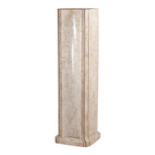 An Unusual Tessellated Stone Pedestal by Maitland Smith 1970s For Sale