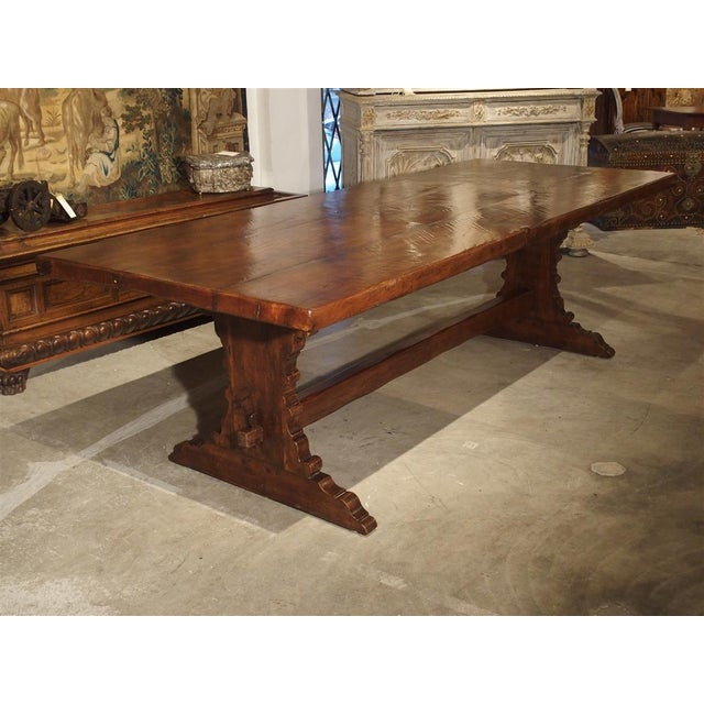 Antique Italy, 19th Century Oak Dining Table For Sale - Image 9 of 11