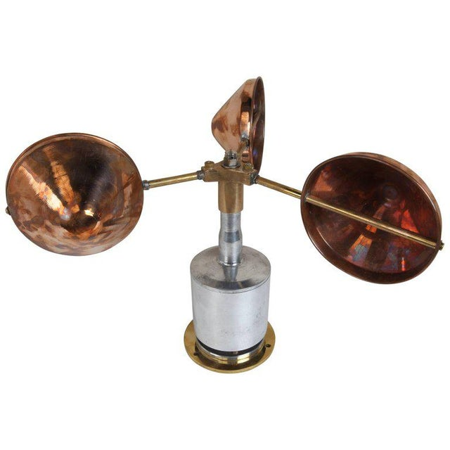 Mid-Century Copper, Brass and Chrome Ship's Anemometer For Sale In Nantucket - Image 6 of 6