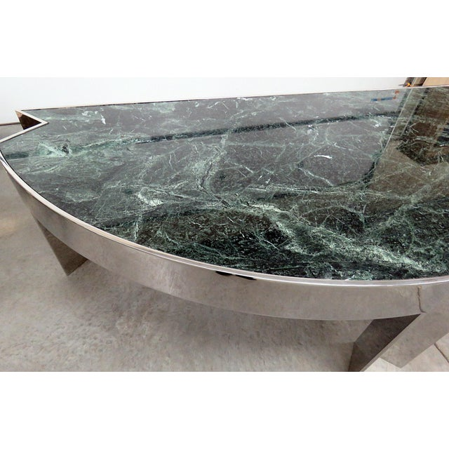 Pace Marble Top Chrome Desk Attr. Pace Collection For Sale - Image 4 of 11