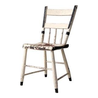 Antique White Primitive Chair For Sale