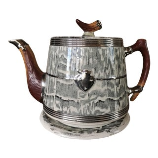 1930s Arthur Wood Silver Shield Teapot
