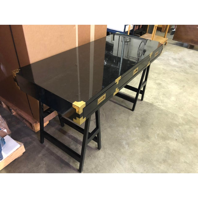 Selamat Designs Chiba Black Lacquer Study Desk - Image 3 of 8
