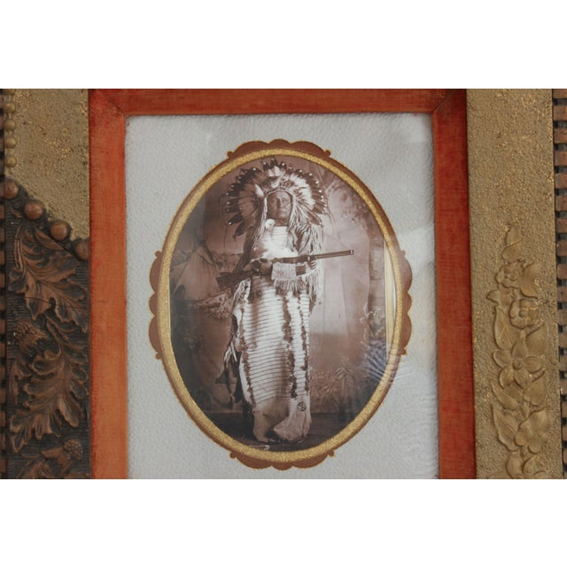 This is an original studio setting, investment quality cabinet photo of Dakota Sioux American-Indian, White Bear. Also...
