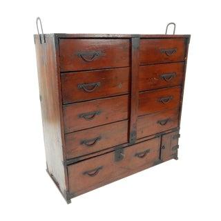 Antique Japanese Antique Tansu Cabinet