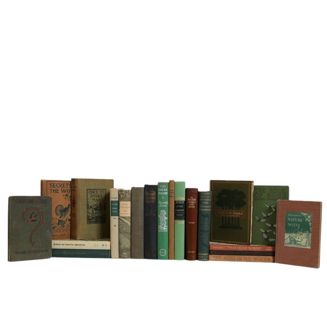 Vintage Wild Life in Earthtone Book Set, S/20 For Sale