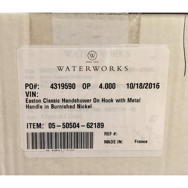 Silver Waterworks Easton Classic Handshower For Sale - Image 8 of 10