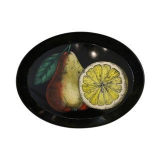 Decorative Piero Fornasetti Oval Tray For Sale