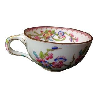 Antique English Mintons Floral Porcelain Cups For Sale