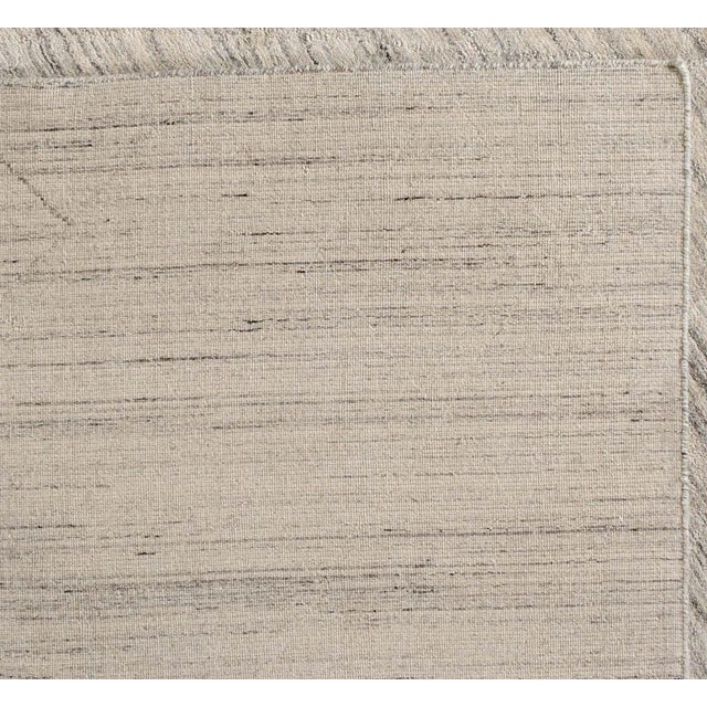 "Contemporary Diamonds and Stripes Wool Rug - 7'10"" X 9'9"" For Sale - Image 3 of 5"