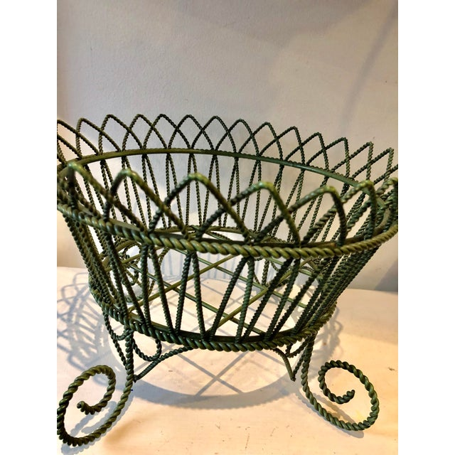 French Wrought Iron Footed Planter For Sale In Miami - Image 6 of 7