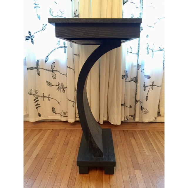 1990s Stained Wood Console For Sale In New York - Image 6 of 6