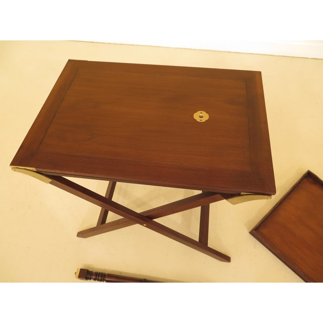 1970s Baker Mahogany Serving Tray Table For Sale - Image 5 of 13