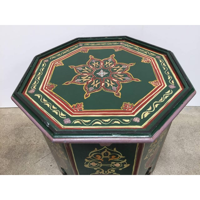 Moroccan Hand Painted Table With Moorish Designs For Sale - Image 11 of 12