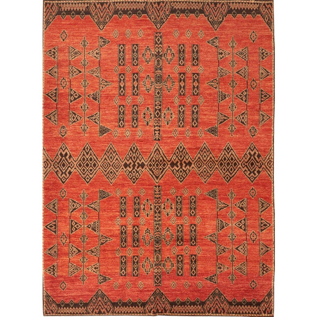 Schumacher Amu Area Rug in Hand-Knotted Wool Silk, Patterson Flynn Martin For Sale