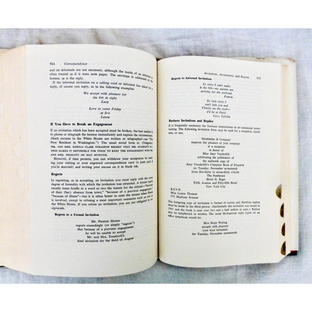 1978 Amy Vanderbilt's Etiquette Book, Illustrated W Warhol Drawings For Sale In Los Angeles - Image 6 of 10