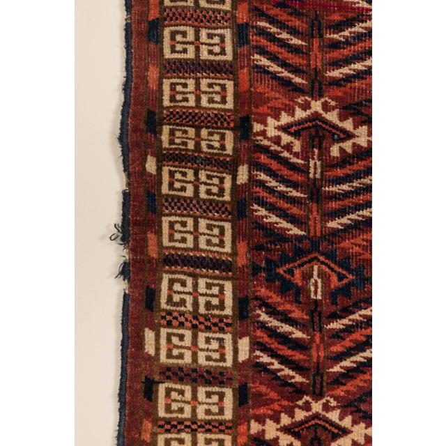 Turkmen Ensi Antique Rug - 3′1″ × 4′10″ For Sale - Image 4 of 6