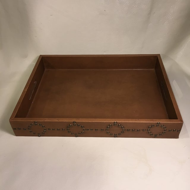 Gold Studded Serving Tray For Sale - Image 8 of 8