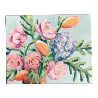 """Garden Flowers I"" Acrylic Painting"