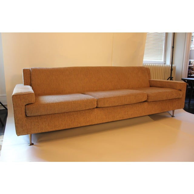 Chrome Contemporary Mid-Century Modern Style Sofa For Sale - Image 7 of 7