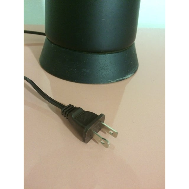 1950s Matte Black Cone Lamp - Image 8 of 10