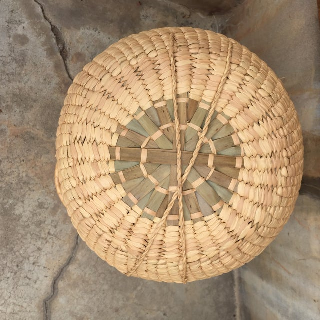 Woven Lidded Basket With Handles - Image 3 of 5