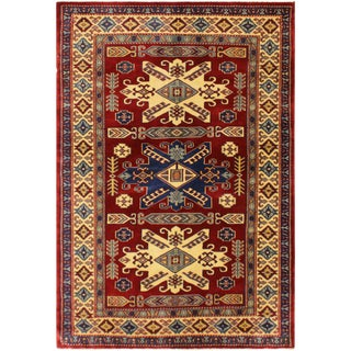 Sherwan Audria Red/Ivory Wool Rug - 3'7 X 5'8 For Sale