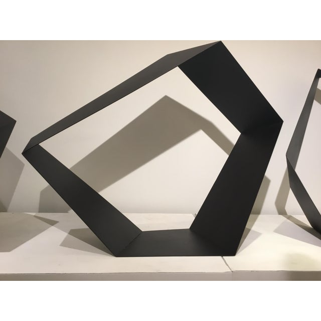 Stylish Modern Black Metal Geometric Sculpture, these are sold individually, but they make a really nice...