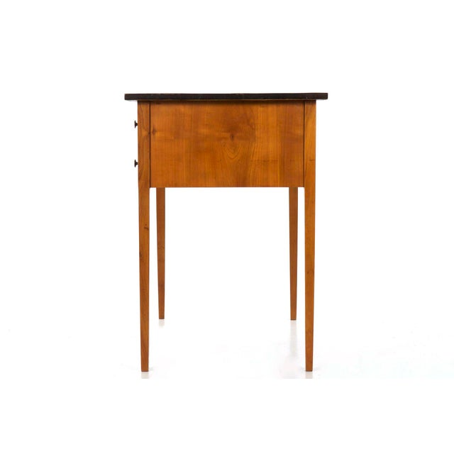 Biedermeier Style Inlaid Fruitwood Writing Table For Sale - Image 4 of 13