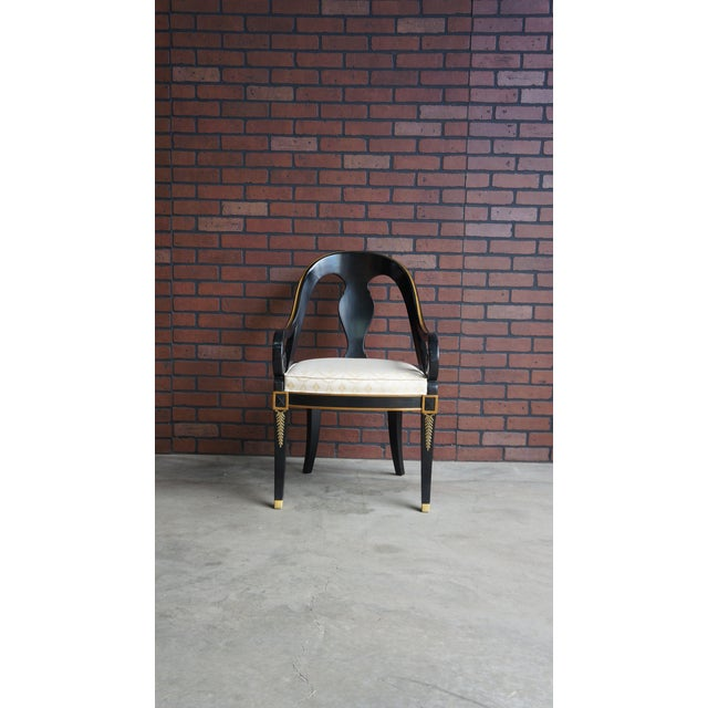 Mid-Century Modern Karges Neoclassical Dining Chairs - Set of 6 For Sale - Image 3 of 11