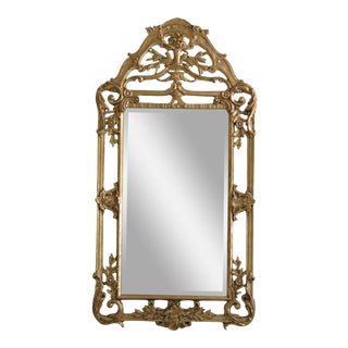 Friedman Brothers Gold Large Mirror For Sale